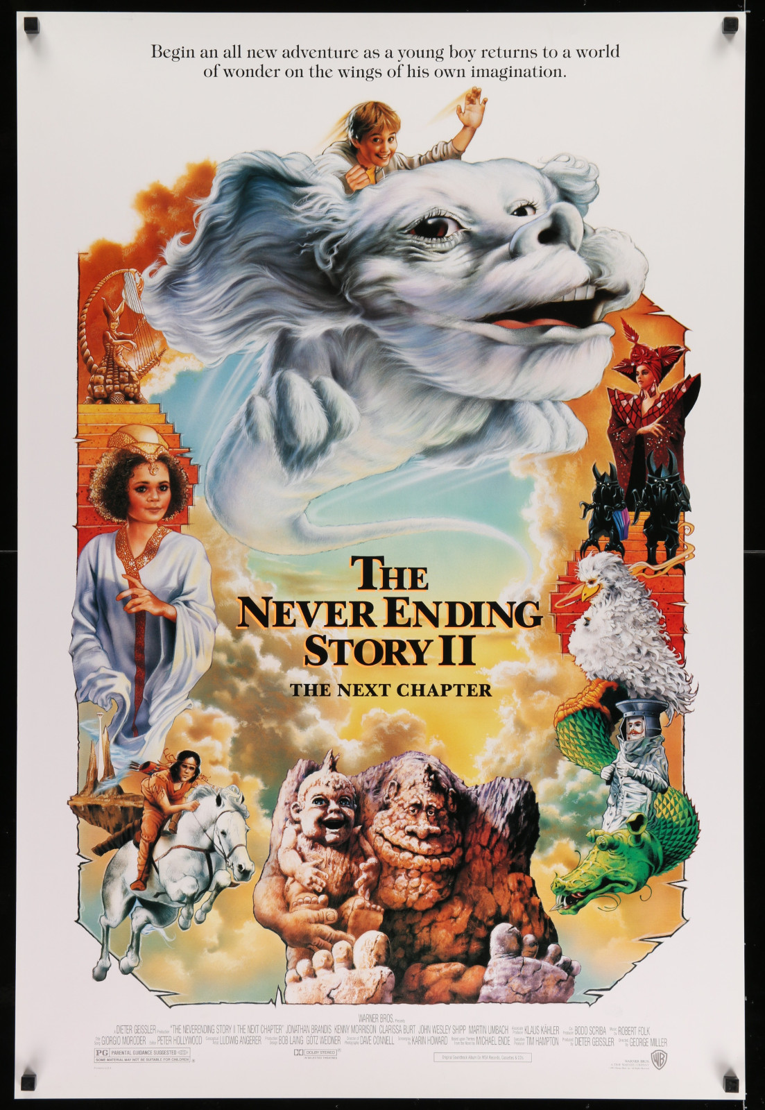 The Never Ending Story Ii 2A446 A Part Of A Lot 17 Unfolded Mostly Double-Sided 27X40 One-Sheets '90S-00S Great Movie Images!