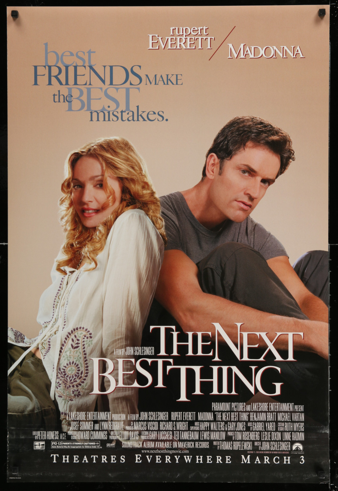 The Next Best Thing 2A438 A Part Of A Lot 18 Unfolded Double-Sided 27X40 Mostly Comedy One-Sheets '90S-00S Great Movie Images!