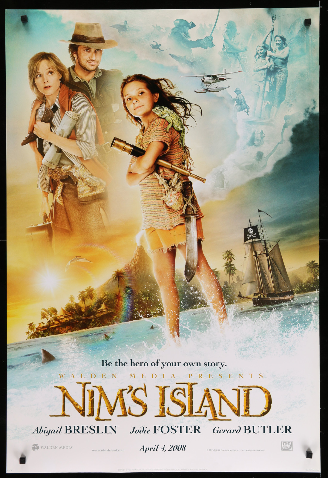 Nim'S Island 2A366 A Part Of A Lot 29 Unfolded Double-Sided 27X40 One-Sheets '90S-00S Great Movie Images!