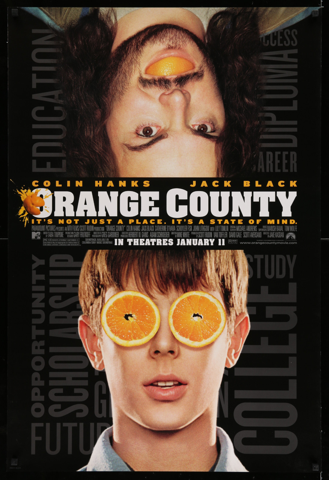 Orange County 2A446 A Part Of A Lot 17 Unfolded Mostly Double-Sided 27X40 One-Sheets '90S-00S Great Movie Images!