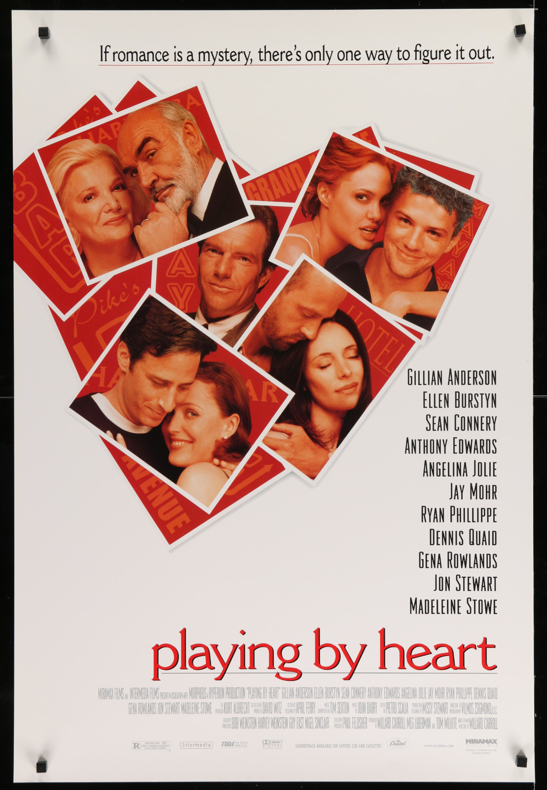 Playing By Heart 2A393 A Part Of A Lot 23 Unfolded Mostly Double-Sided 27X40 One-Sheets '90S Great Movie Images!