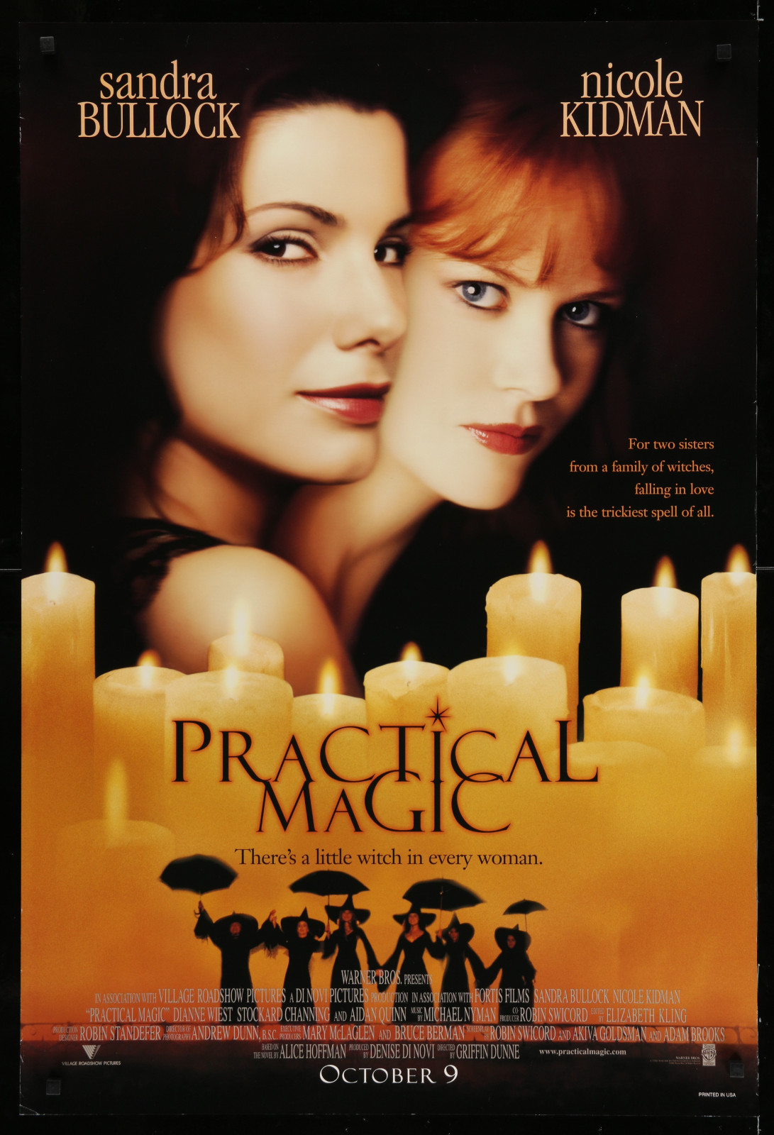 Practical Magic 2A393 A Part Of A Lot 23 Unfolded Mostly Double-Sided 27X40 One-Sheets '90S Great Movie Images!