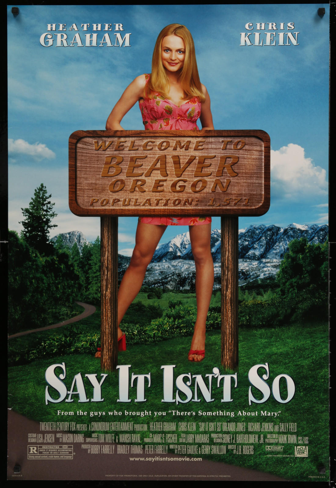 Say It Isn'T So 2A438 A Part Of A Lot 18 Unfolded Double-Sided 27X40 Mostly Comedy One-Sheets '90S-00S Great Movie Images!