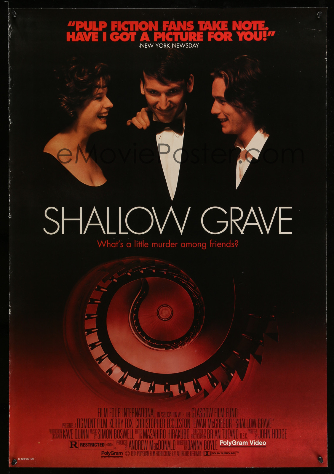 Shallow Grave 2A323 A Part Of A Lot 18 Unfolded Single-Sided Video Posters '90S A Variety Of Movie Images!