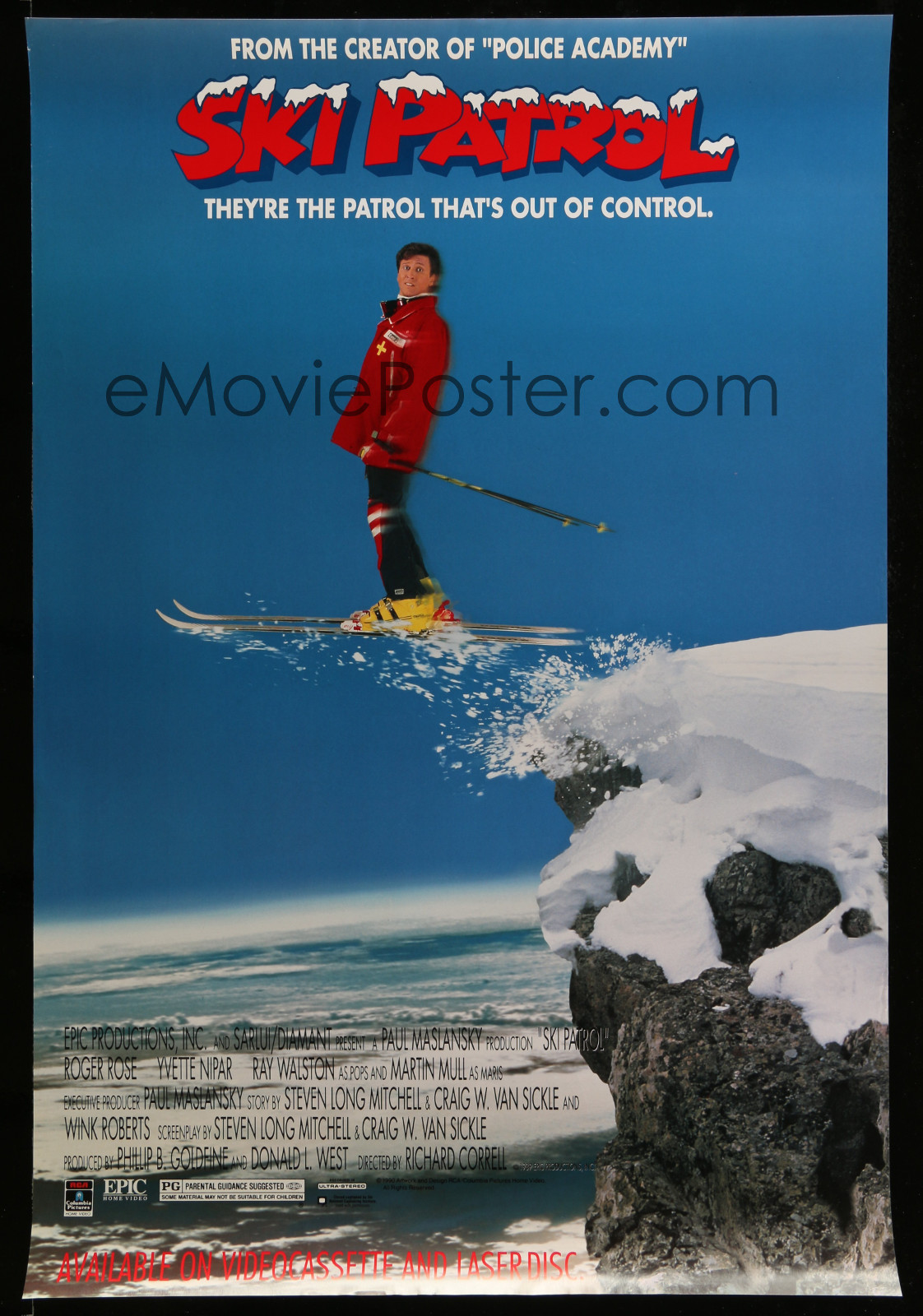 Ski Patrol 2A323 A Part Of A Lot 18 Unfolded Single-Sided Video Posters '90S A Variety Of Movie Images!