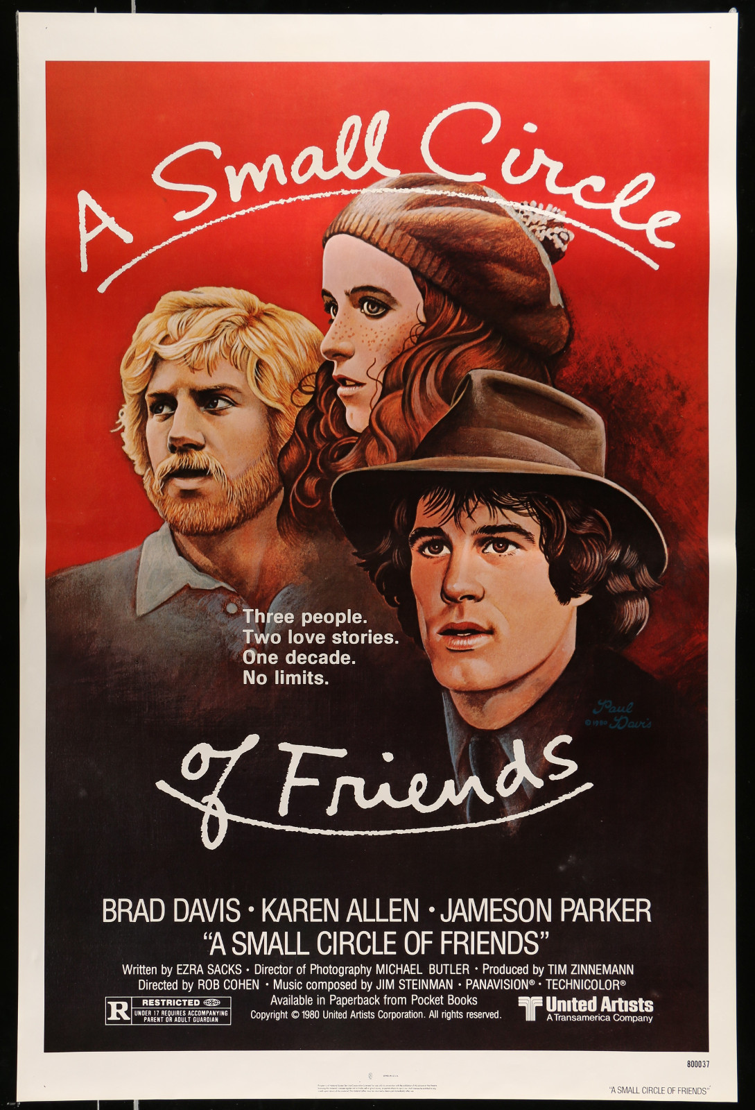A Small Circle Of Friends 2A368 A Part Of A Lot 28 Unfolded Mostly Double-Sided Mostly 27X40 One-Sheets '70S-00S Cool Images!
