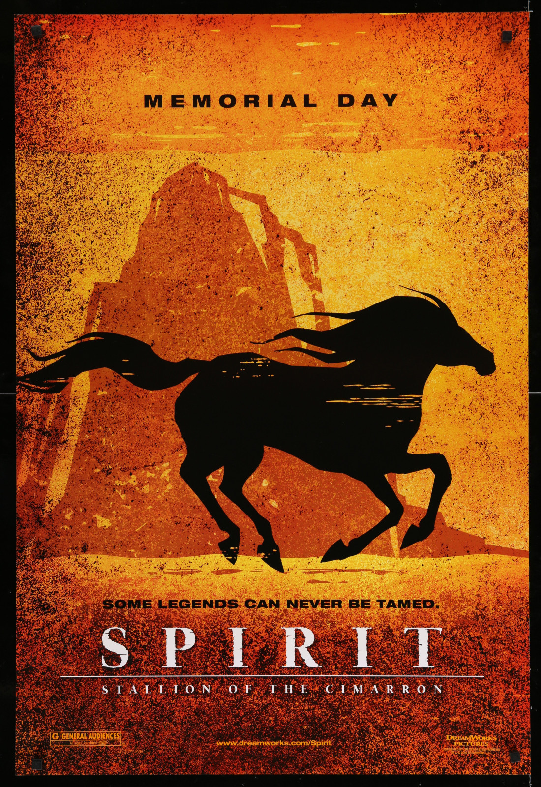 Spirit (Memorial Day – Orange) 2A366 A Part Of A Lot 29 Unfolded Double-Sided 27X40 One-Sheets '90S-00S Great Movie Images!