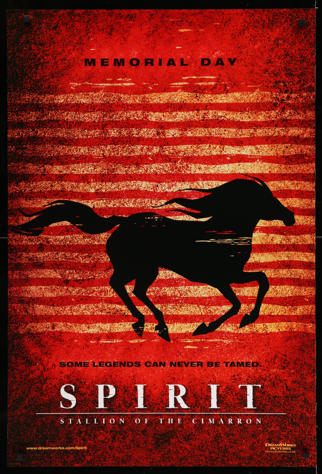 Spirit (Memorial Day – Red) 2A366 A Part Of A Lot 29 Unfolded Double-Sided 27X40 One-Sheets '90S-00S Great Movie Images!