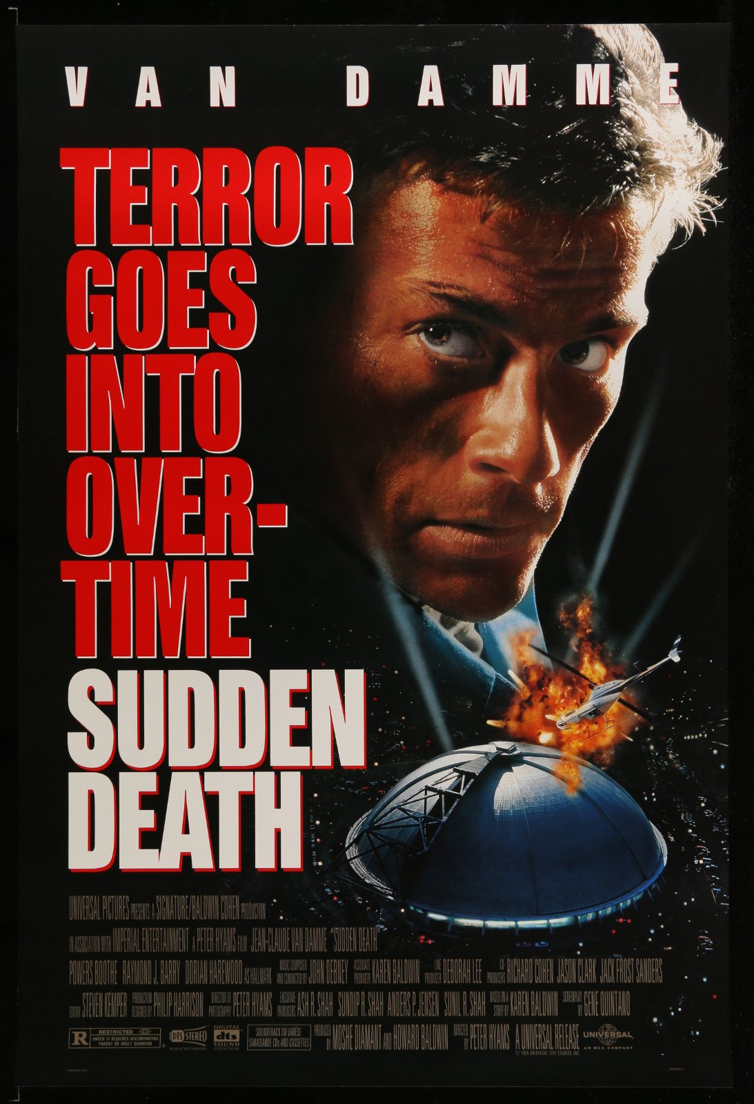 Sudden Death 2A355 A Part Of A Lot 31 Unfolded Mostly Double-Sided 27X40 One-Sheets '90S Cool Movie Images!