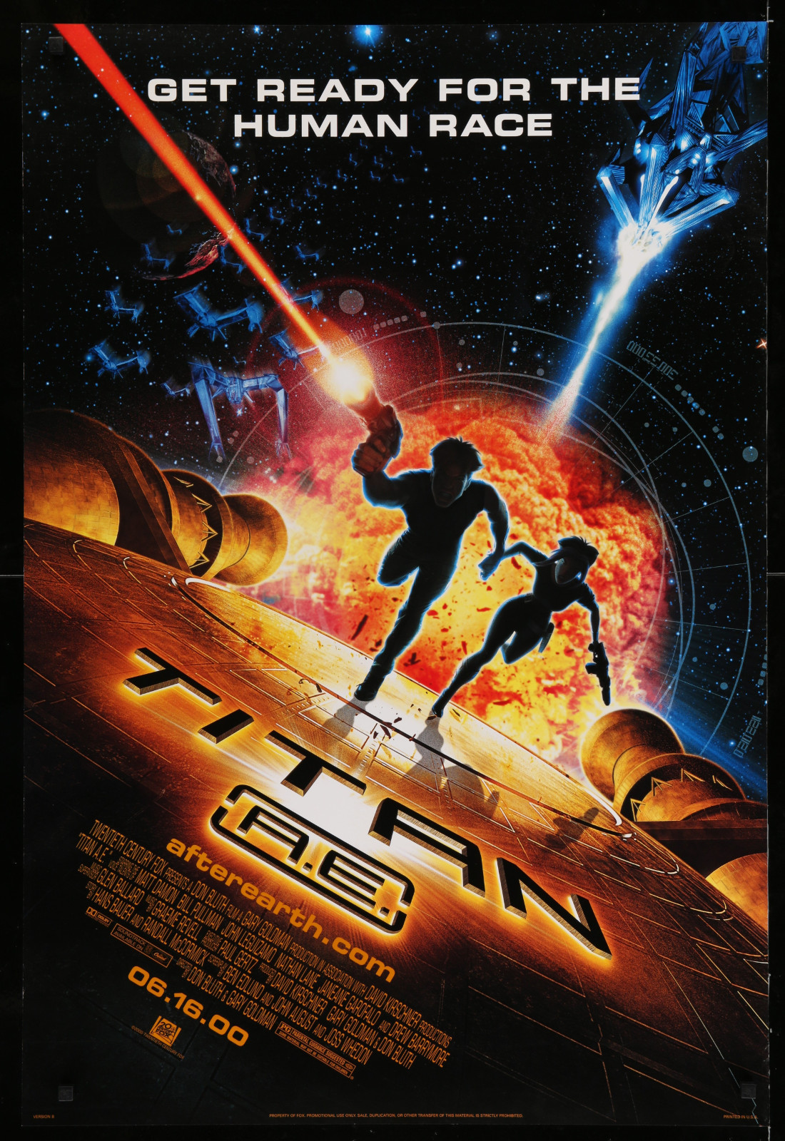 Titan A.E. 2A366 A Part Of A Lot 29 Unfolded Double-Sided 27X40 One-Sheets '90S-00S Great Movie Images!