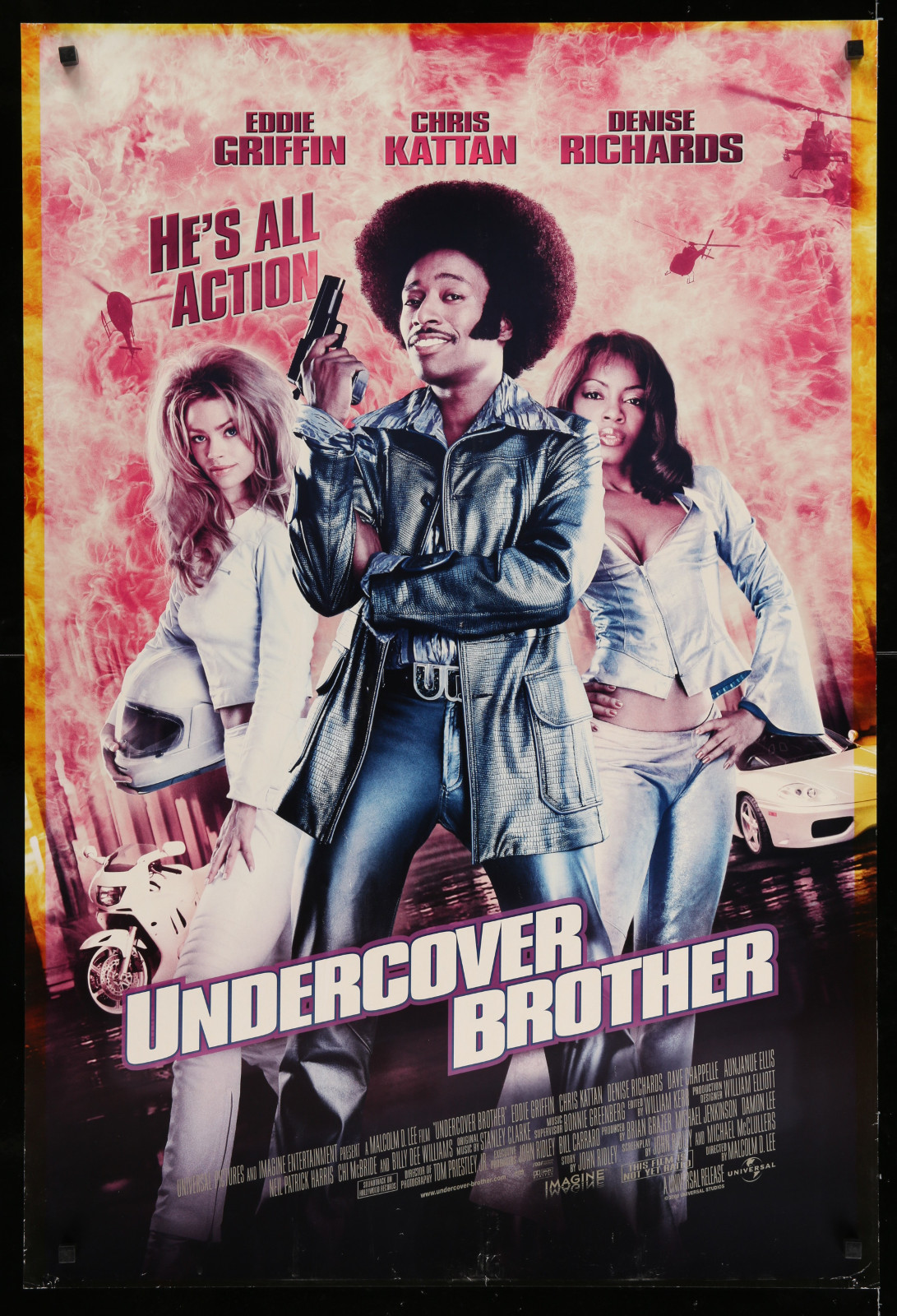 Undercover Brother 2A366 A Part Of A Lot 29 Unfolded Double-Sided 27X40 One-Sheets '90S-00S Great Movie Images!