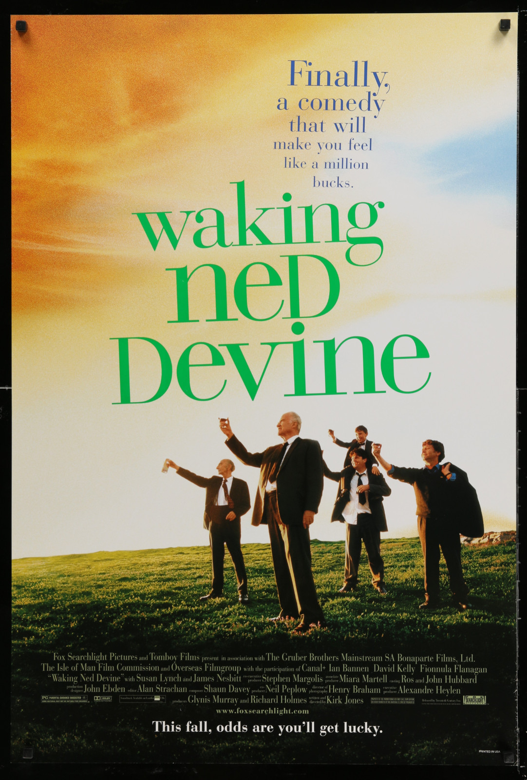 Waking Ned Devine 2A391 A Part Of A Lot 24 Unfolded Double-Sided 27X40 One-Sheets '90S-00S Great Movie Images!