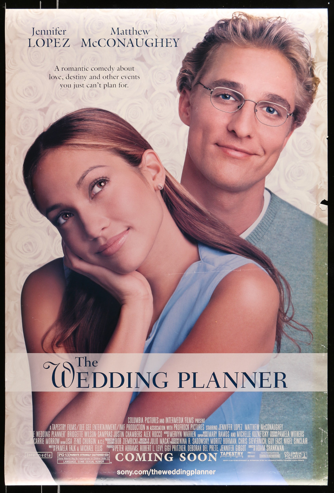 The Wedding Planner 2A413 A Part Of A Lot 20 Unfolded Mostly Double-Sided 27X40 One-Sheets '90S-00S Great Movie Images!