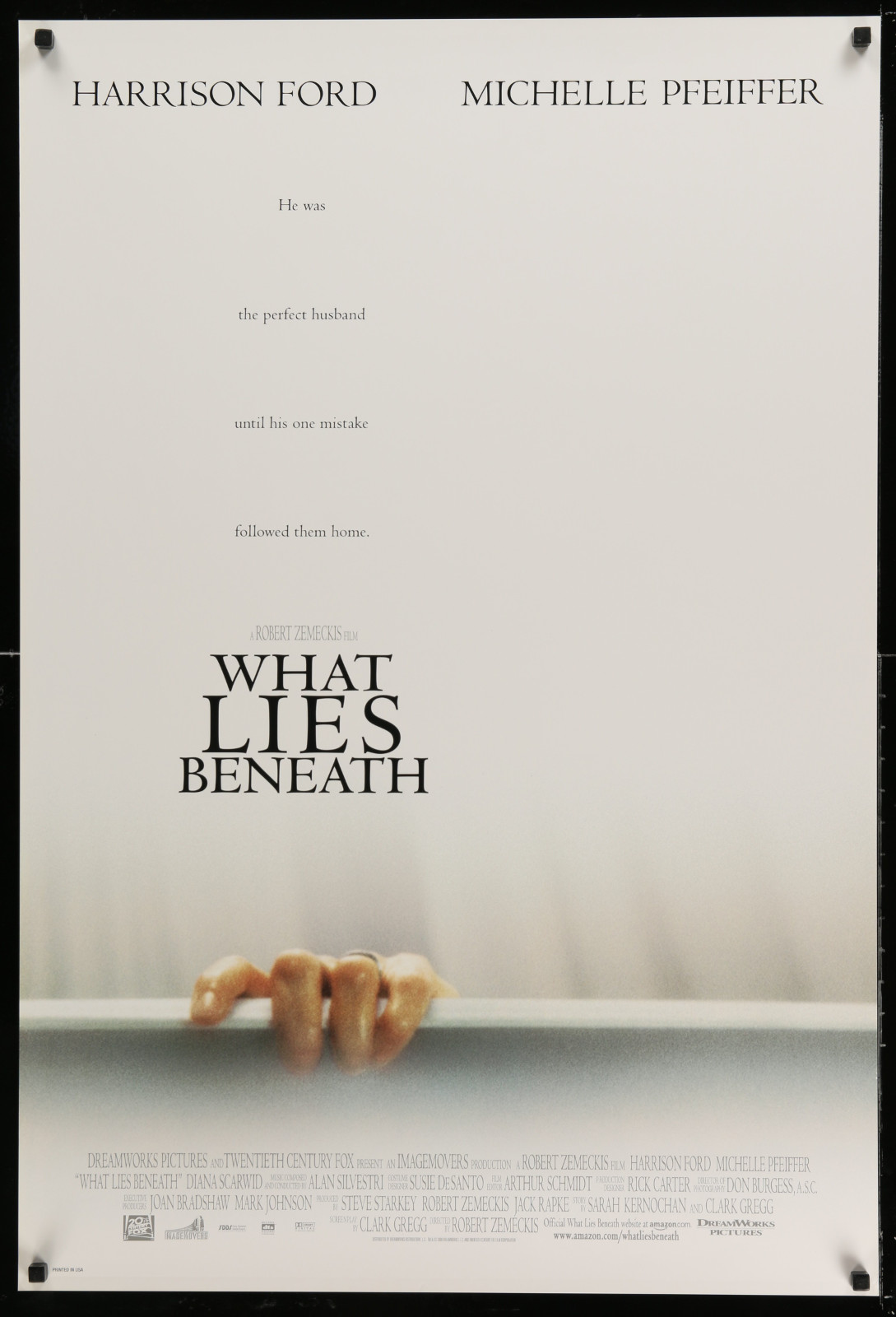What Lies Beneath 2A391 A Part Of A Lot 24 Unfolded Double-Sided 27X40 One-Sheets '90S-00S Great Movie Images!